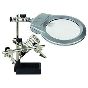 VELLEMAN VTHH3 HELPING HAND WITH MAGNIFIER, LED LIGHT AND SOLDERING STAND by Velleman by Velleman
