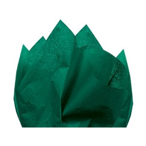EMERALD GREEN Tissue Paper 15 X 20 - 100 Sheets by Premium Quality Gift Wrap Paper