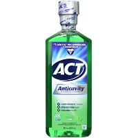 ACT Alcohol Free Anticavity Fluoride Rinse, Mint - 18 oz - 2 pk by ACT