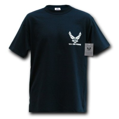 Rapid Dominance S25-WIN-NVY-03 Classic Military T-Shirt, Air Force Wing, Navy, Large