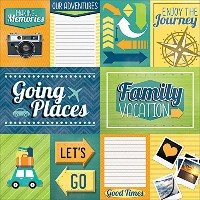 Paper House Productions P-0734E Family Vacation Tags Paper, 12 by 12-Inch (25-Pack) by Paper House...