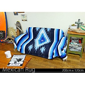 RUG&PIECE Native Mexican Rug ネイティブ柄 メキシカンラグ 200cm×120cm (rug-5762)
