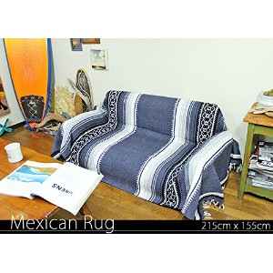 Made in Nexico Mexican Rug ヘビーウェイト メキシカンラグ 215cm×155cm (rug-5812)