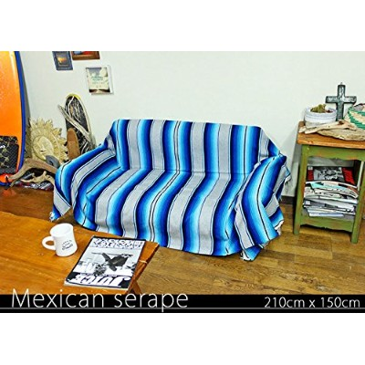 RUG&PIECE Mexican Serape made in mexcico ネイティブ メキシカン サラペ メキシコ製 210cm×150cm (rug-5786)