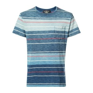 Rrl - striped T-shirt - men - コットン - M