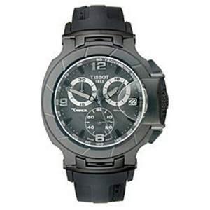 ティソ Tissot 腕時計 メンズ 時計 Tissot T-Race Chrono Black Dial Men's watch #T048.417.37.057.00