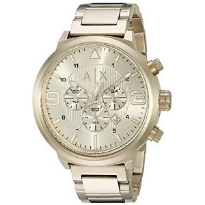 Armani Exchange アルマーニ エクスチェンジ メンズ 時計 腕時計 Men's AX1368 Analog Display Analog Quartz Gold Watch
