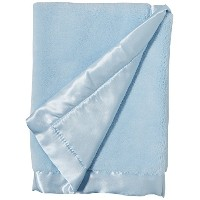 Elegant Baby Ultra Plush Blankie, Satin Border and Back Blankie 20 x 20 Inch in Baby Blue by...