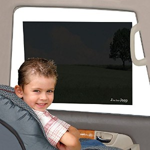 Jeep Car Sun Shade, Static Cling, Black, Baby Car Seat Window Shade, Toddler Car Tint Film,...