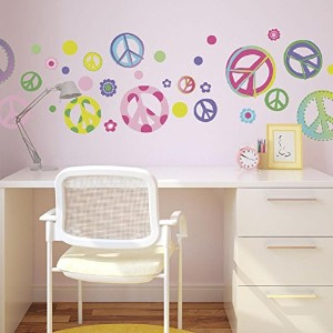 Peace Out! Decorative Wall Art Sticker Decals for Girls/Babies/Dorms by CherryCreek Decals