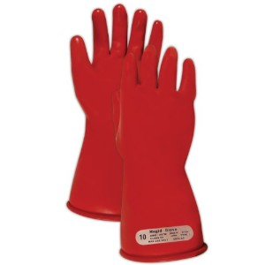 Magid M00 A.R.C. Natural Latex Rubber Class 00 Insulating Glove with Straight Cuff, Work, 11 Length, Size 8, Red by Magid Glove & Safety