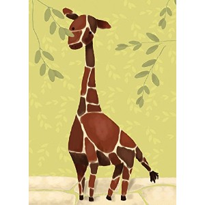 Oopsy Daisy Gillespie The Giraffe by Meghann O'Hara Canvas Wall Art, 10 by 14-Inch by Oopsy Daisy