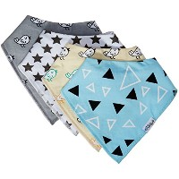 Stylish Baby Bandana Drool Bibs With 2 FREE Pacifier Clips, Ultra Absorbent, Ultra Soft, Organic...