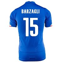 Puma Barzagli #15 Italy Home Jersey World Cup 2014 -Youth/サッカーユニフォーム イタリア ホーム用 バルツァッリ 背番号15...