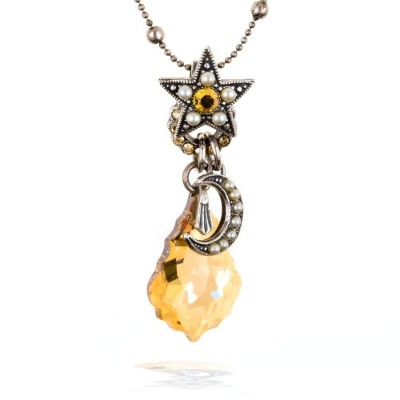 Amaro Moon and Star Amulet Necklace–nc129sort