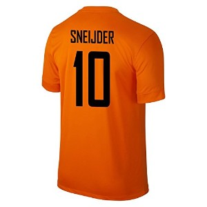 NIKE SNEIJDER #10 Holland Home Jersey 2014-15/サッカーユニフォーム オランダ ホーム用 背番号10 スネイデル 2014-15 (M)