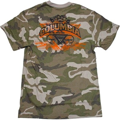 Columbia PFG Only the Strong Survive Tee 迷彩 UPF15 US-M / 日本-L [並行輸入品]