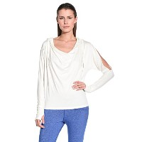 Zumba (ズンバ) Cold Shoulder Hoodie, White [並行輸入品] (S)