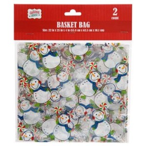 Christmas Cellophane Basket Bags 2 Count Varied Designs by Momentum Brands