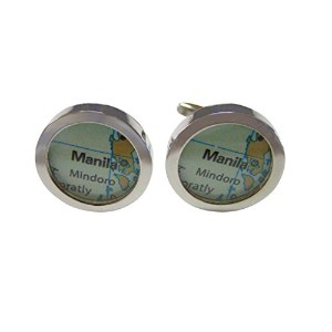 マニラPhilippines Map Cufflinks