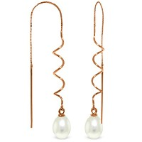 K14 Rose Gold Threaded Earrings with Freshwater-cultured Pearl