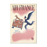 Air Franceヴィンテージポスター(アーティスト: Baille )フランスC。1940 8 x 12 Acrylic Wall Sign LANT-3P-AC-SS-73718-8x12