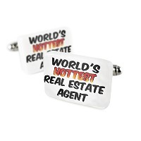 Cufflinks Worlds Hottest Real Estate Agent磁器セラミックNEONBLOND