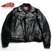 No.IM80494 ALLSTATE × INDIAN MOTORCYCLEHORSE HIDEDOUBLE RIDERS JACKET