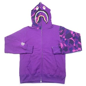 A BATHING APE ア ベイシング エイプ 17SS COLOR CAMO SHARK FULL ZIP HOODIE シャークパーカー 紫 L