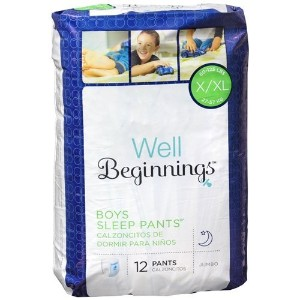 Well Beginnings Youth Sleep Pants Boy, Large/X-Large 12 ea by Well Beginnings
