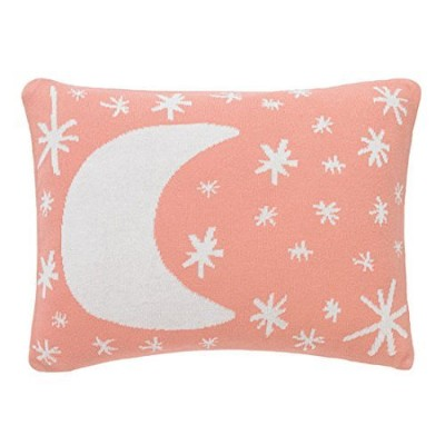 Dwell Studio Galaxy Knitted Boudoir Pillow in Blossom by Dwell Studio