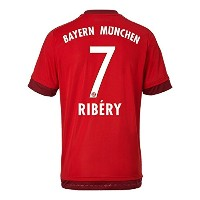 Adidas RIBERY #7 Bayern Munich Home Soccer Jersey (Authentic name and number of player)2015-16...