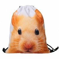 "Print Drawstring Backpack Rucksack Shoulder Bags Gym Bag (Animals,foods)15""x12""DB-009"