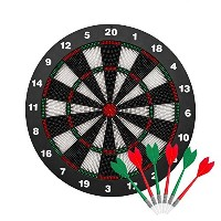 Safety Darts and Kids Dart Board Set–16InchゴムDart Board With 9ソフトTip Darts子供と大人、Office and...