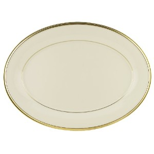 Lenox Eternal gold-banded Fine China 5-piece Place Setting Oval Platter, 16-in ゴールド 1.40104e+008