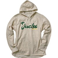 NCAAレディースFrench Terry Pullover Hoodie with Applique L グレイ
