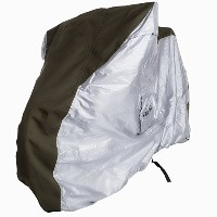 4MyCycle Bike Cover XL 600D Olive Green & Silver - Extra Large Size Bicycle Cover for 29er Mountain...