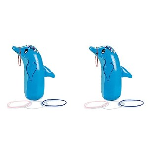 Inflatable Dolphin Ring Toss Game ( 1パック ブルー
