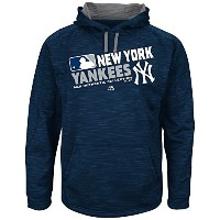 MLBメンズBig and Tall on - field team choice Streak Therma Base Fleece Hoodie ( 5 x l ,ニューヨーク・ヤンキース)