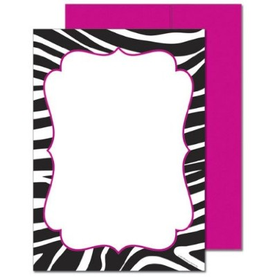 Image Shop 20103857 Black and White Zebra Flat Card by Image Shop
