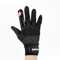 frg-01 Football Gloves for Receiver withグリップ、Re、DB、RB、ブラック、バーネット