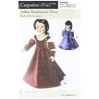 Pattern for Italian Renaissance Dress - fits 18 American Girl Dolls by Carpatina Dolls