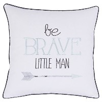 adecor枕カバーBe Brave Little Man枕カバー刺繍枕子供枕Cases Boys寝具誕生日ギフトQuote枕カバーp357 18x18