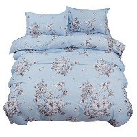 Zhhlinyuan 良質の寝具 Simple Fashion Duvet Set Home Decor Super soft Cotton Fitted Sheet Duvet Cover...