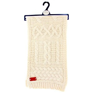 Aran Traditions Oatmeal Cable Knit Scarf