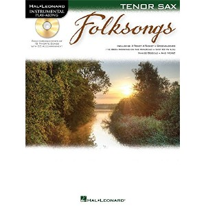 Tenor Saxophone Play-Along: Folksongs. Partitions, CD pour Saxophone Tenor