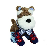 Mud Pie Schnauzer Bowtie Sock Buddy by Mud Pie