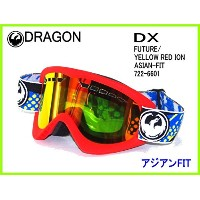 2017 DRAGON DX FUTURE/YELLOW RED ION ASIAN-FITドラゴンゴーグル 722-6601 [並行輸入品]