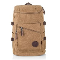 WOWANGカジュアルキャンバスバックパックラック袋Daily Hiking Daypack for Men and Women ( 30l )