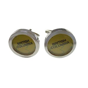British Columbia Canada Map Cufflinks